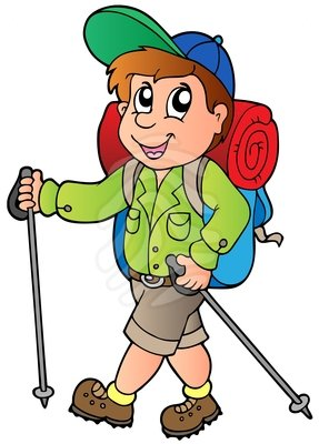 Hiker clipart. Cartoon