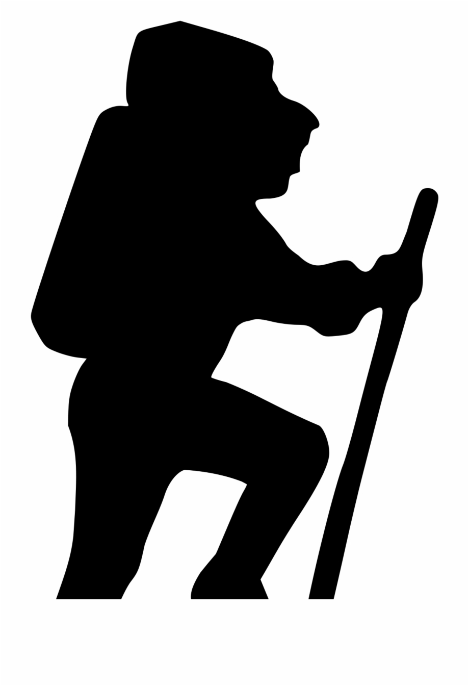 Hiker silhouette clip art. Hiking clipart wandered