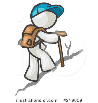 Hiking illustration by leo. Hiker clipart