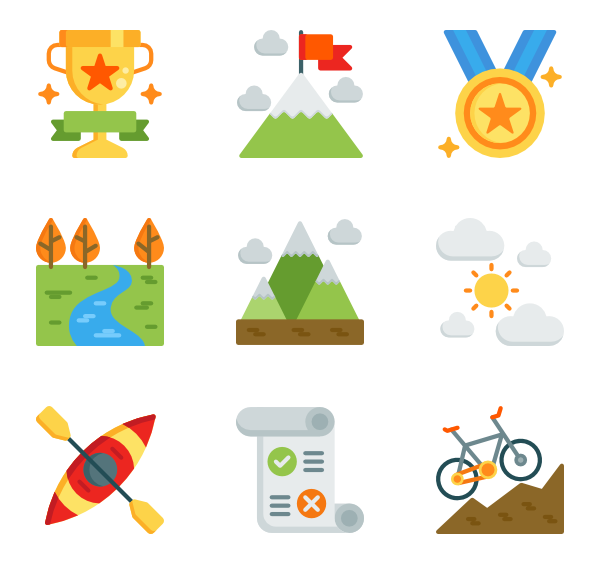 and sports icon. Hiking clipart adventure sport