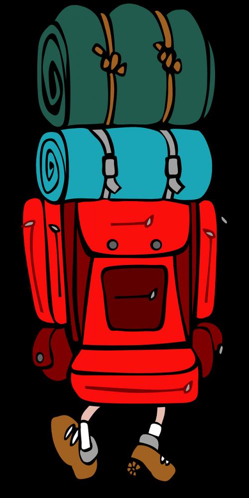 Backpacking clip art backpack. Hiking clipart backpacker