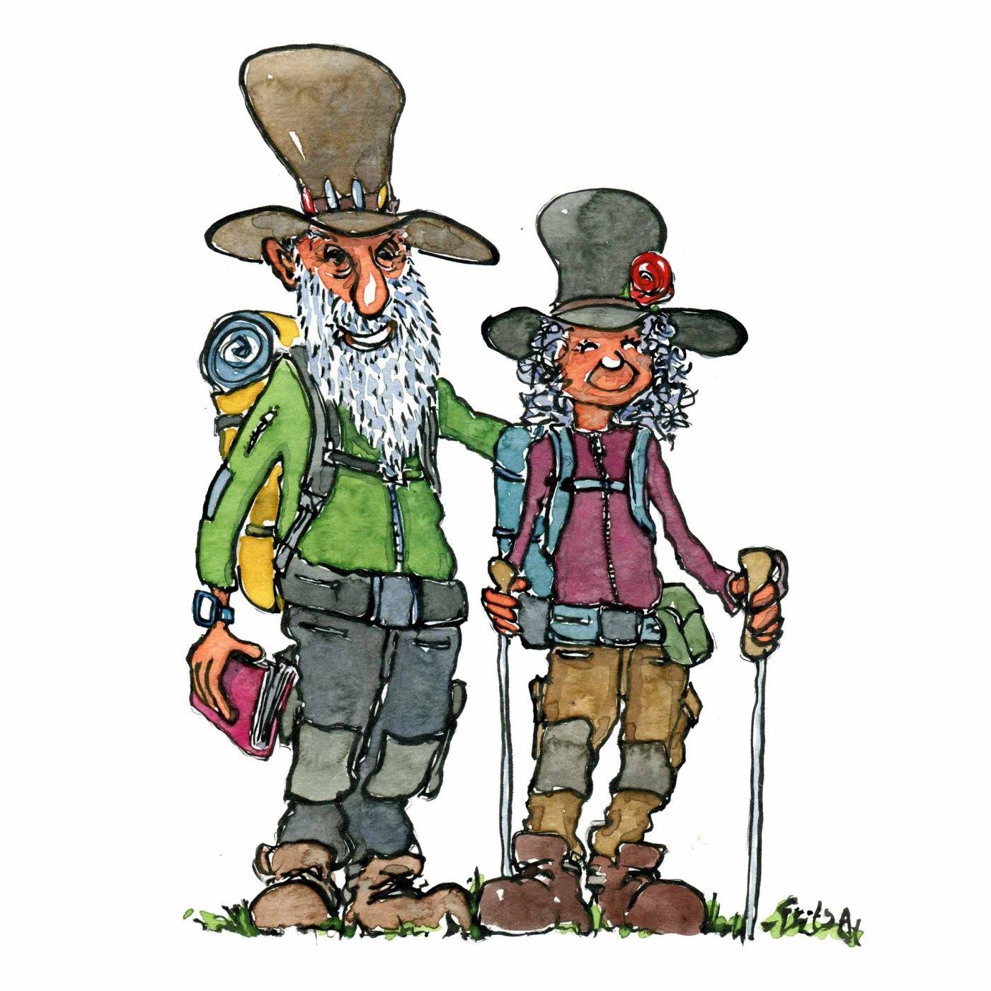 Alternative thru hiking reasons. Hiker clipart friendly giant
