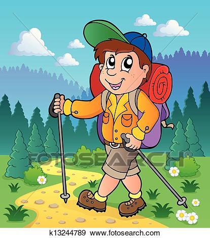 Free hiking download clip. Hiker clipart jungle trekking