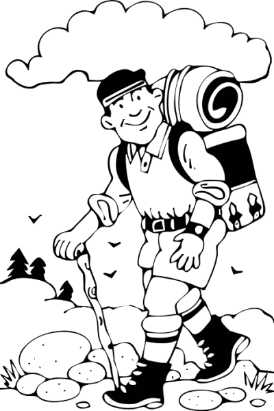 Hiker clipart jungle trekking. Download free png dolly