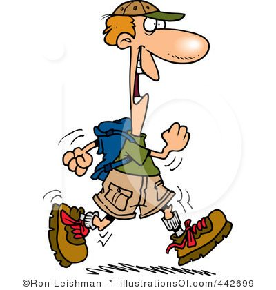 Hiker clipart lost phone. Royalty free illustration