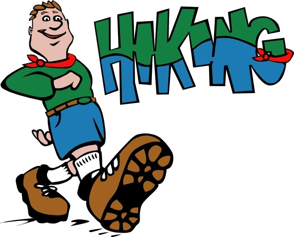 Hiking clipart. Hiker clip art free