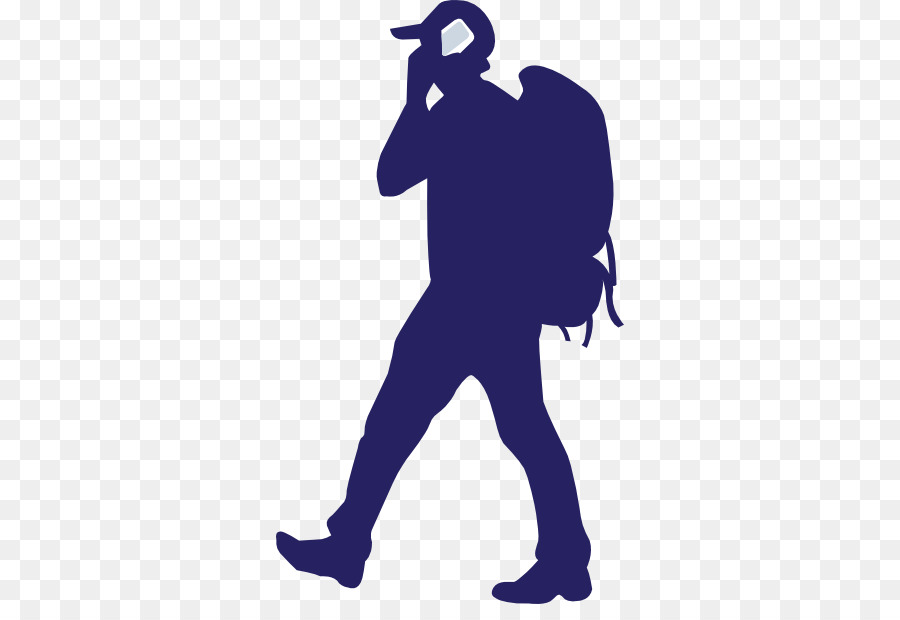 Silhouette backpacking clip art. Hiking clipart backpacker