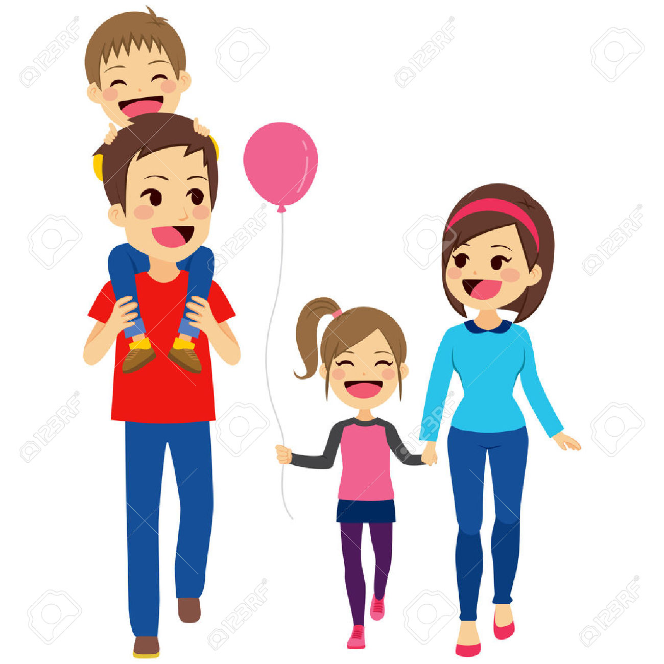Hiking clipart family hike. Free download best
