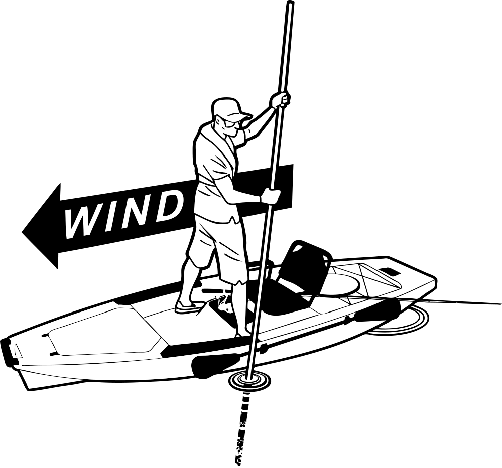 Kayak drawing at getdrawings. Windy clipart gust