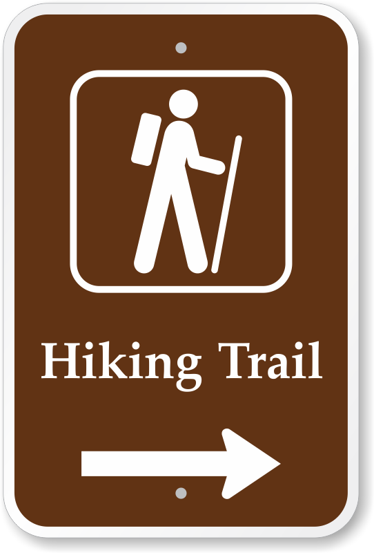 trail clipart trail sign