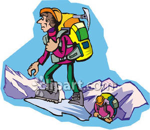 People panda free images. Hiking clipart two mountain