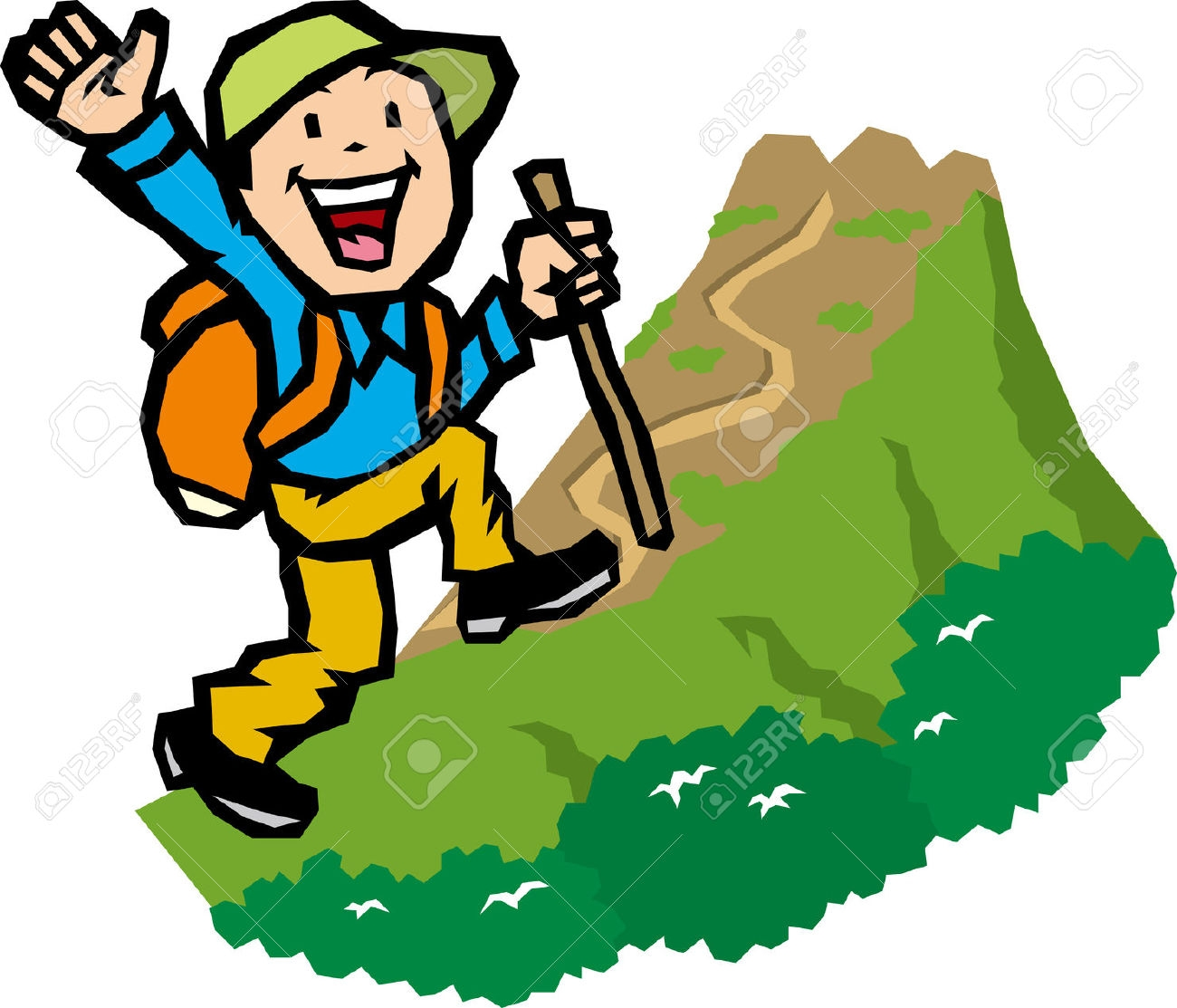 Fresh collection digital r. Hiking clipart
