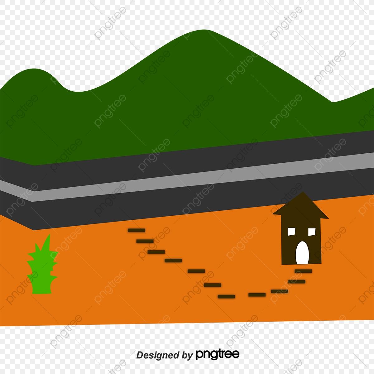 Green cartoon texture hillside. Hills clipart border