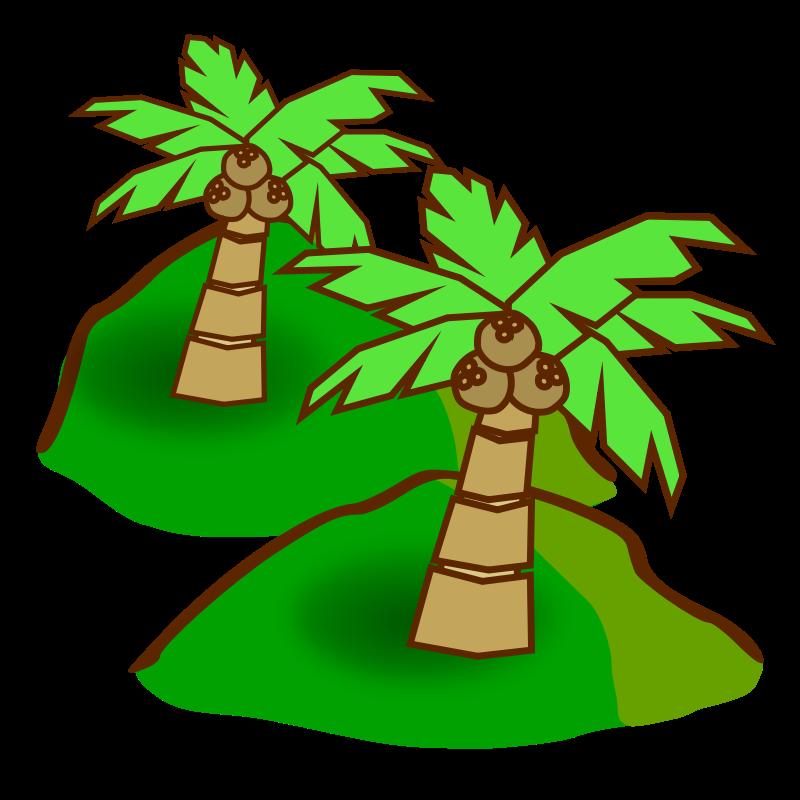 Jungle clip art free. Hill clipart bush