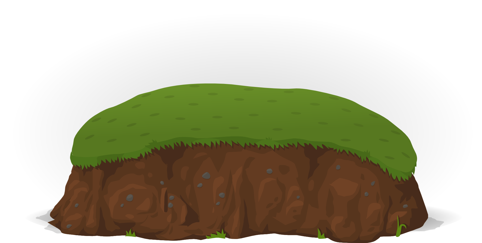 Hill clipart bush. Graphic drawing of a