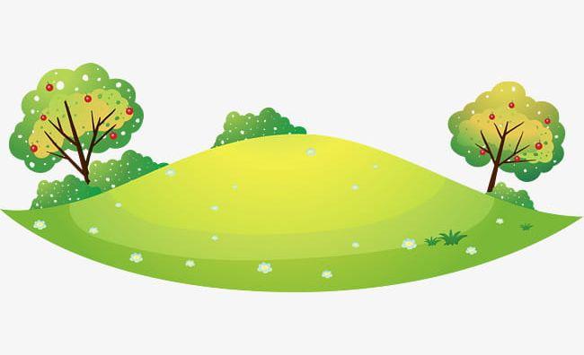 Hill clipart cartoon. Green hills png fresh