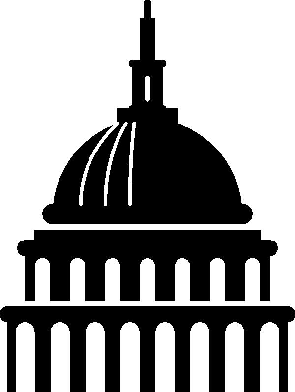 Art capitol building icon. Hill clipart clip