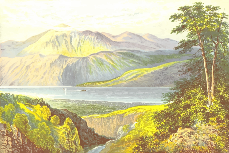 Hill clipart countryside. Loch ness medium image