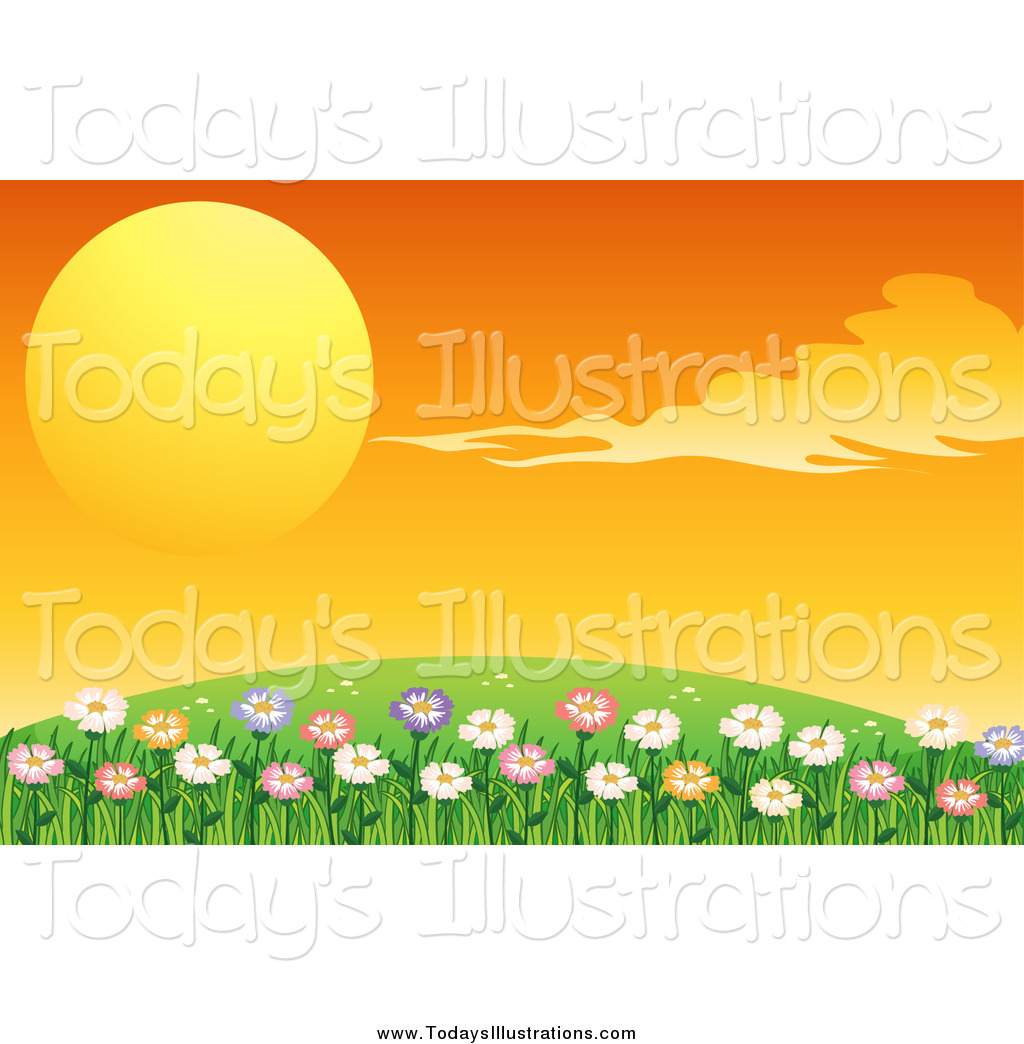 Of a beautiful orange. Hill clipart flower