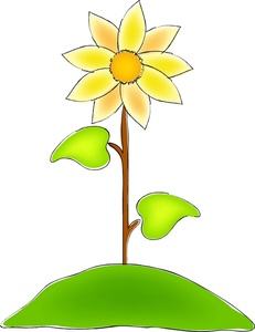 Hill clipart flower. Sunflower image on a