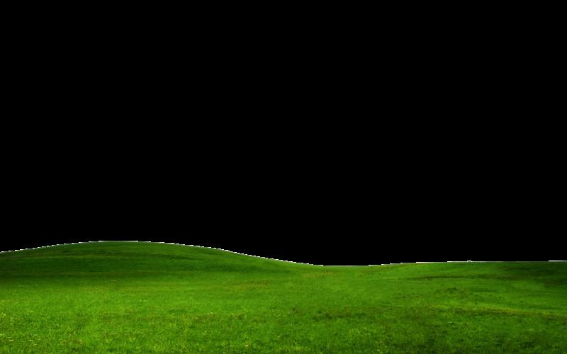 Hill grass plain