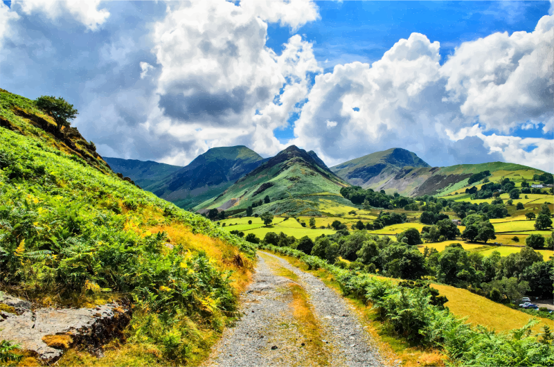 Hills clipart landscape. Green rolling medium image