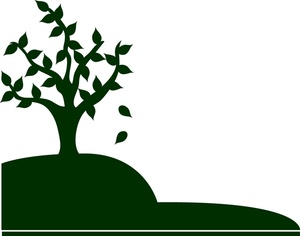 Hill clipart hill tree. Black and white free