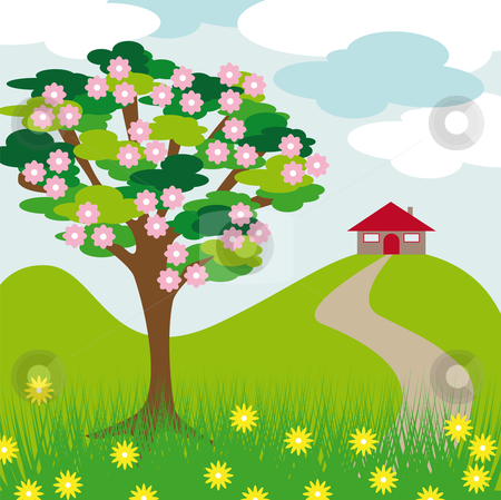 Hill clipart hill tree. Free cliparts download clip