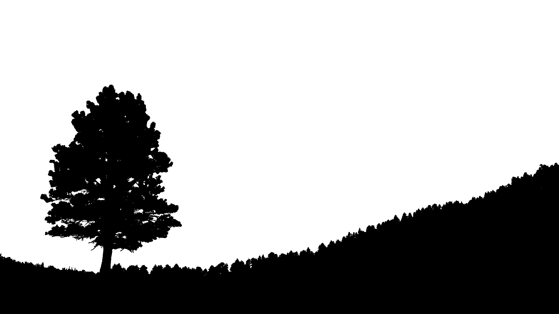 Hill silhouette at getdrawings. Hunting clipart landscape