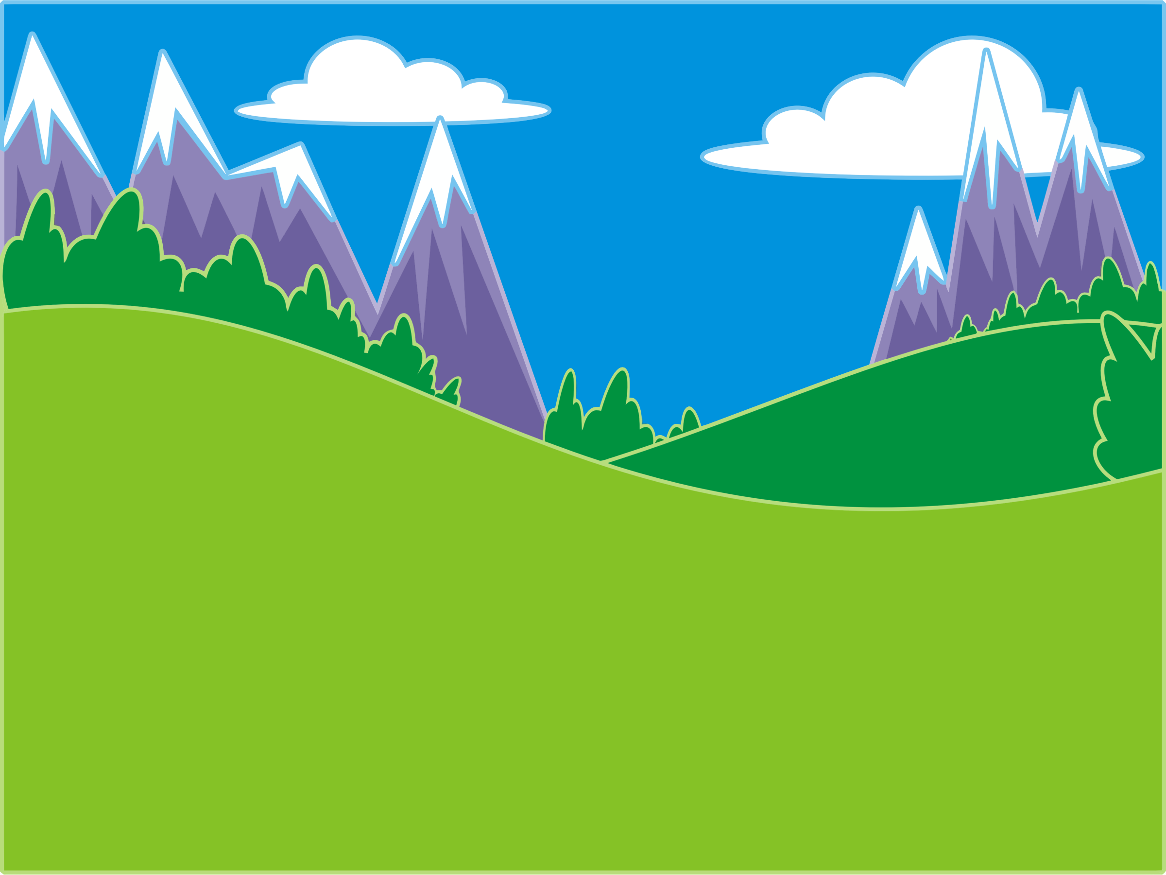 Green hills and by. Mountains clipart mountain landscape