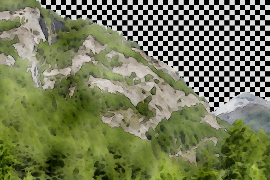 Hill clipart natural vegetation. Forest cartoon nature mountain