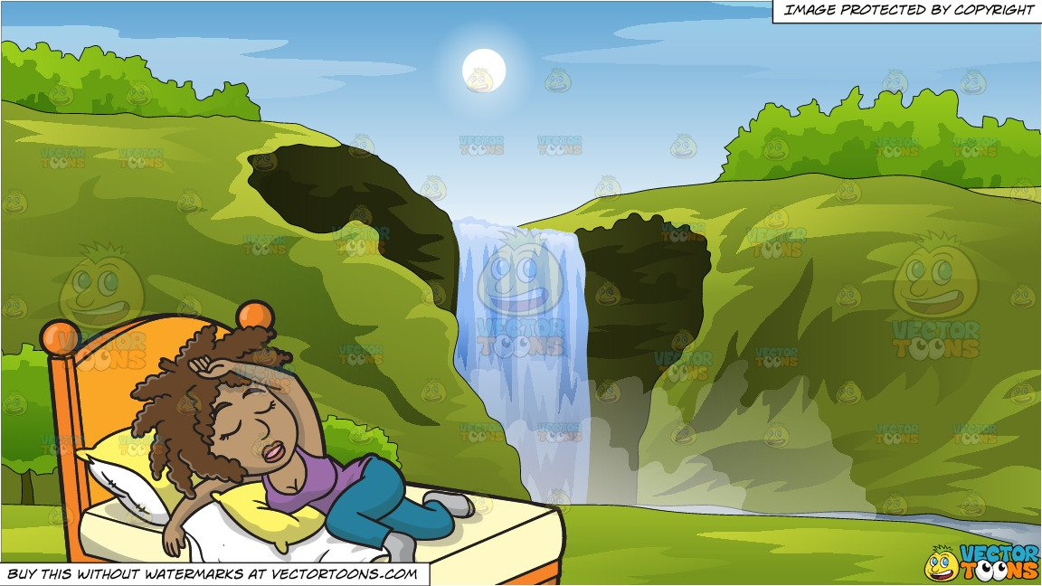 A black woman sleeping. Hills clipart outdoor background