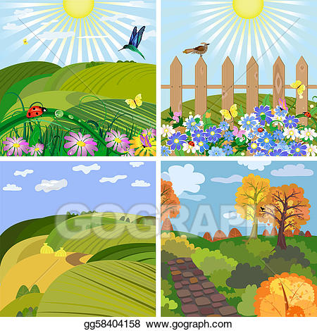 Vector art seasonal and. Hill clipart park landscape