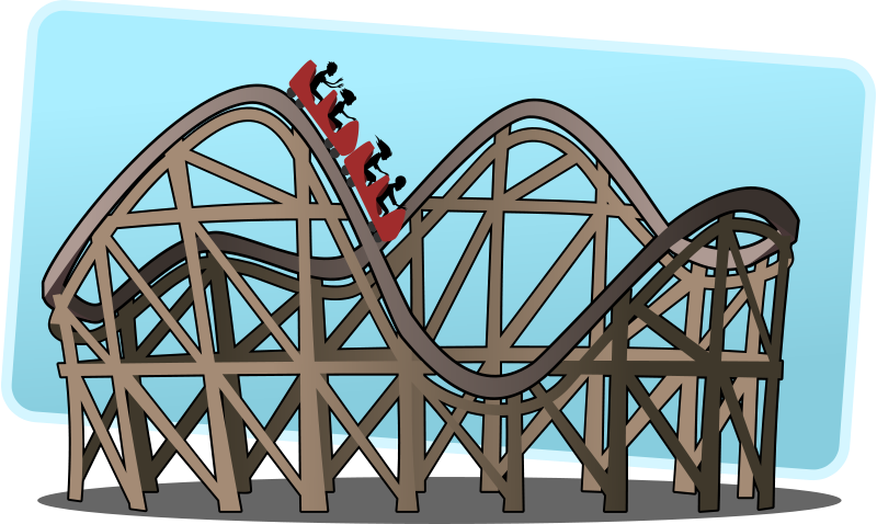 Hill clipart roller coaster. Car all about silhouette
