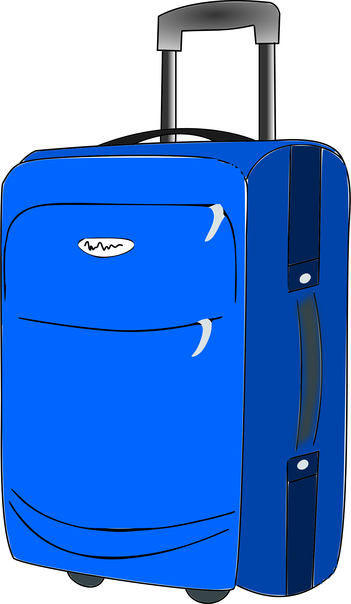 collection of rolling. Luggage clipart suitcase handle