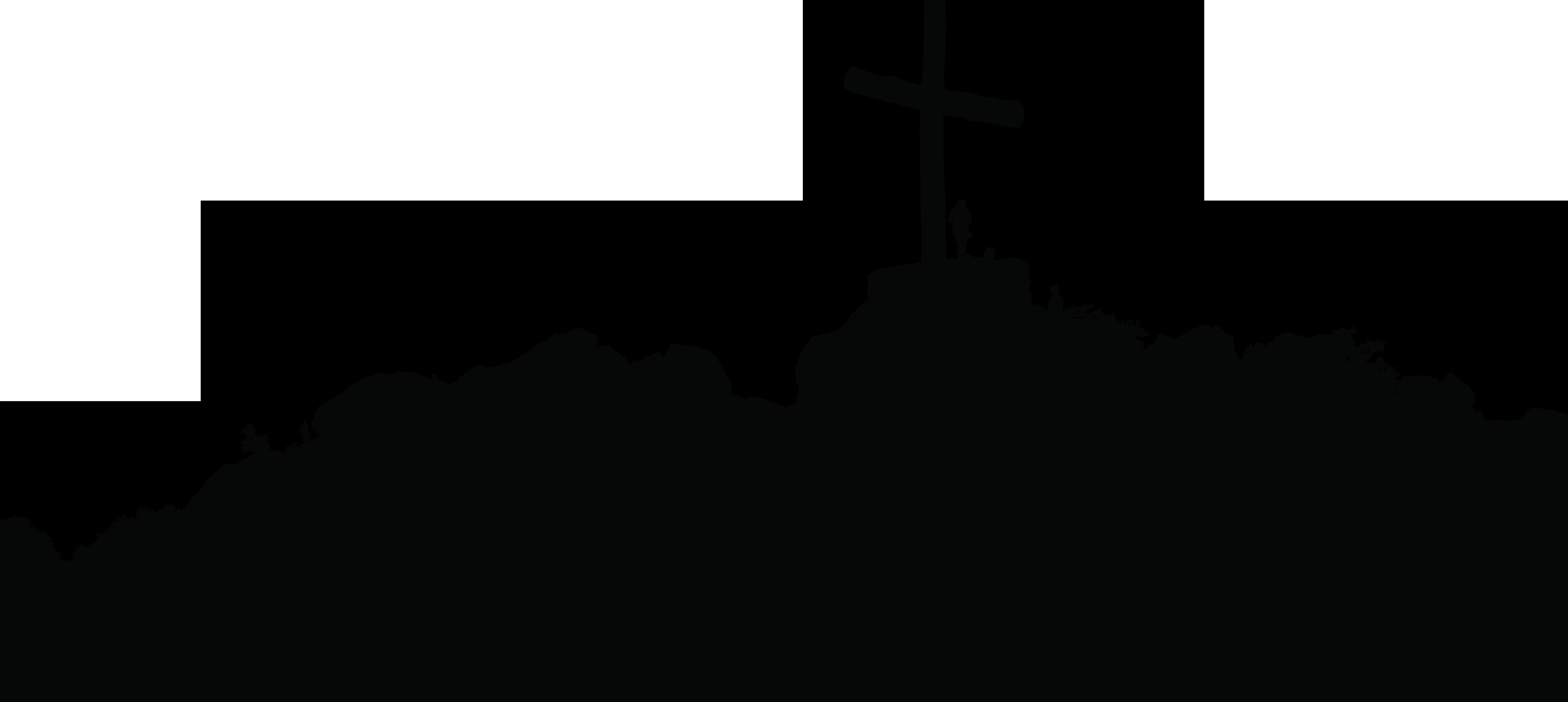 Christian cross clip art. Hill clipart silhouette
