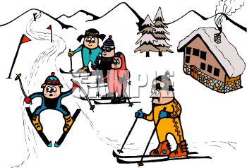 Skis clipart skiing holiday. Snow hill cliparts free