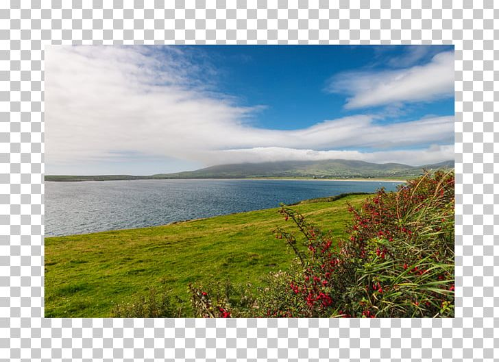 Land lot loch real. Hill clipart sky cloud