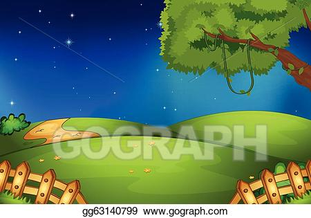 Vector art drawing gg. Nature clipart nature scene