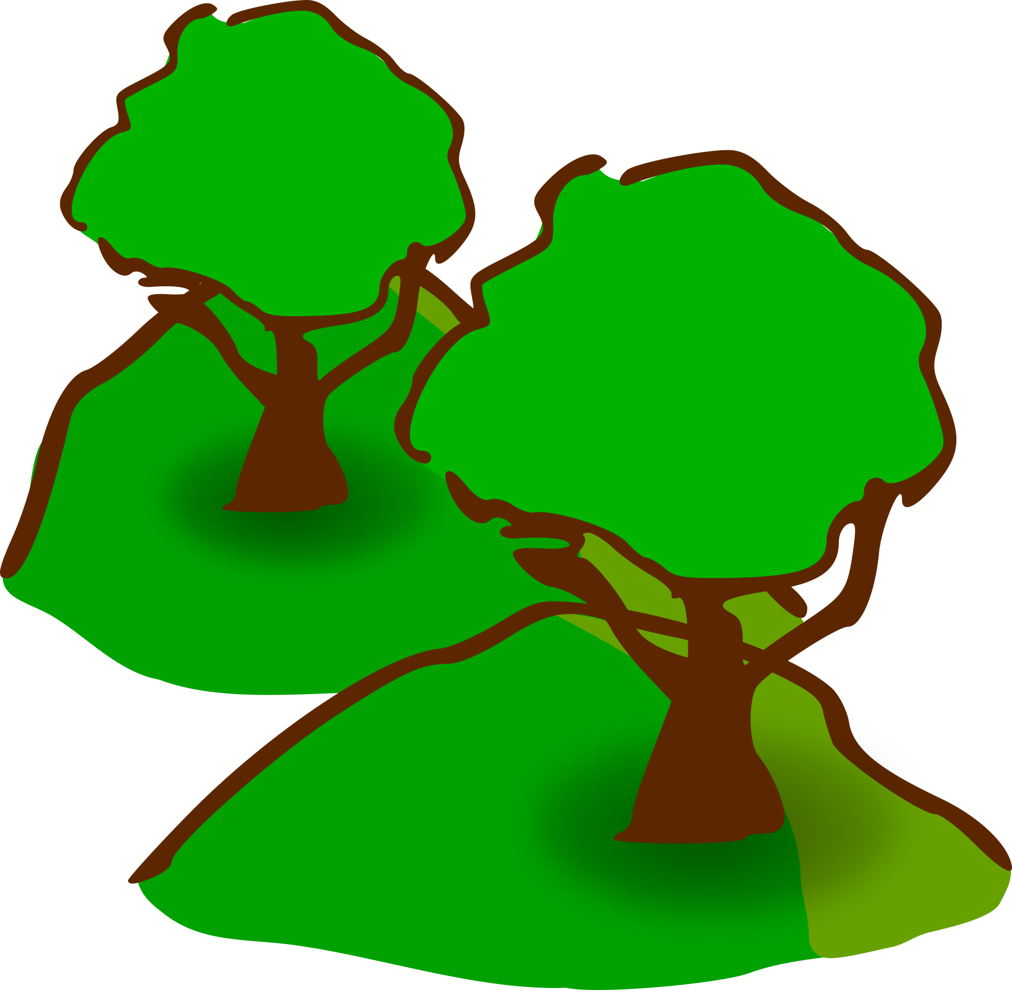 Hill clipart small hill. Hills forested
