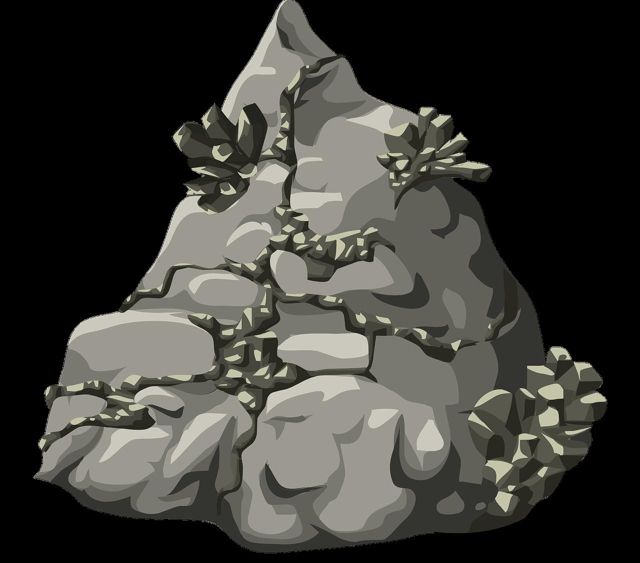 Rocks nature stone gray. Hill clipart story mountain
