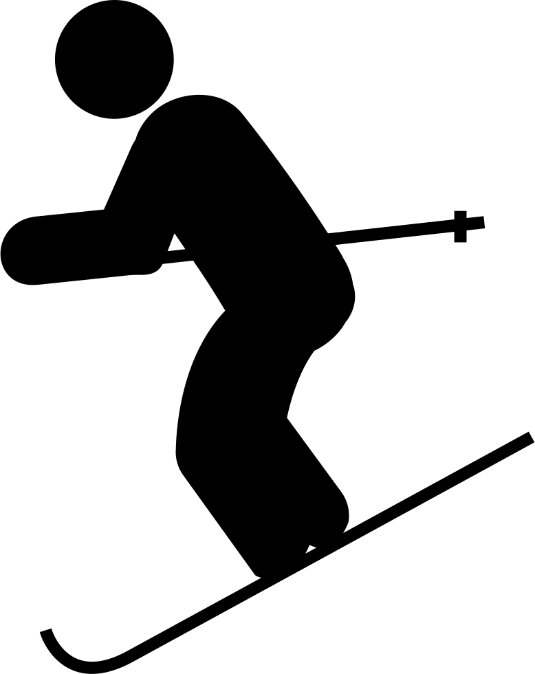 Skiing down hill png. Skis clipart svg