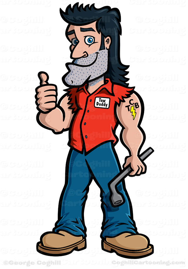 Mechanic clipart cartoon character. Free hillbilly pictures download