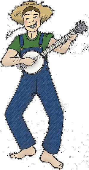 Redneck cliparts wikiclipart . Hillbilly clipart banjo