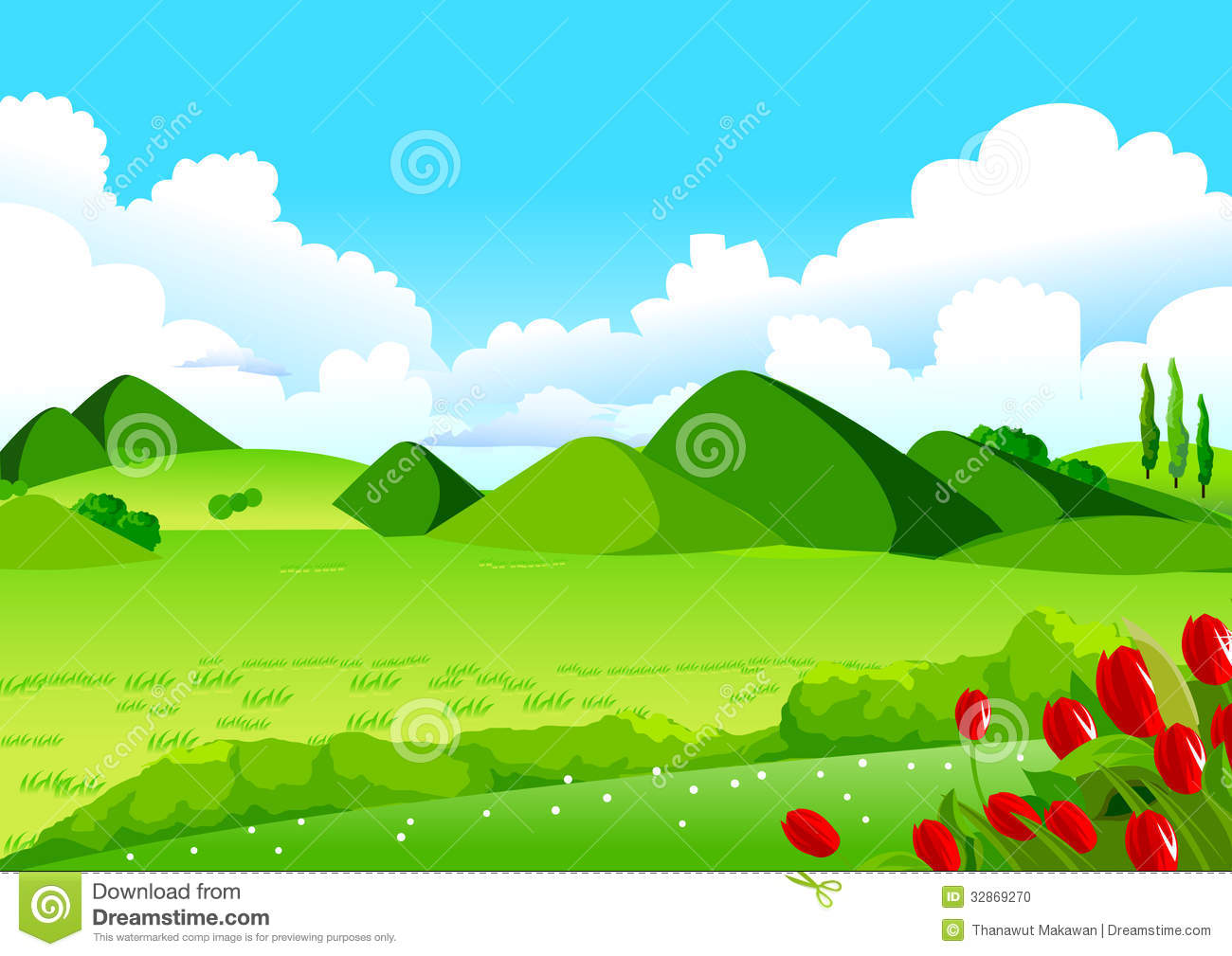 Rolling . Hills clipart