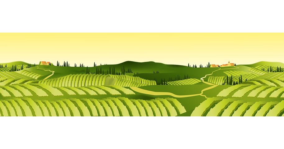 Agricultural financing banking system. Hills clipart carpet grass