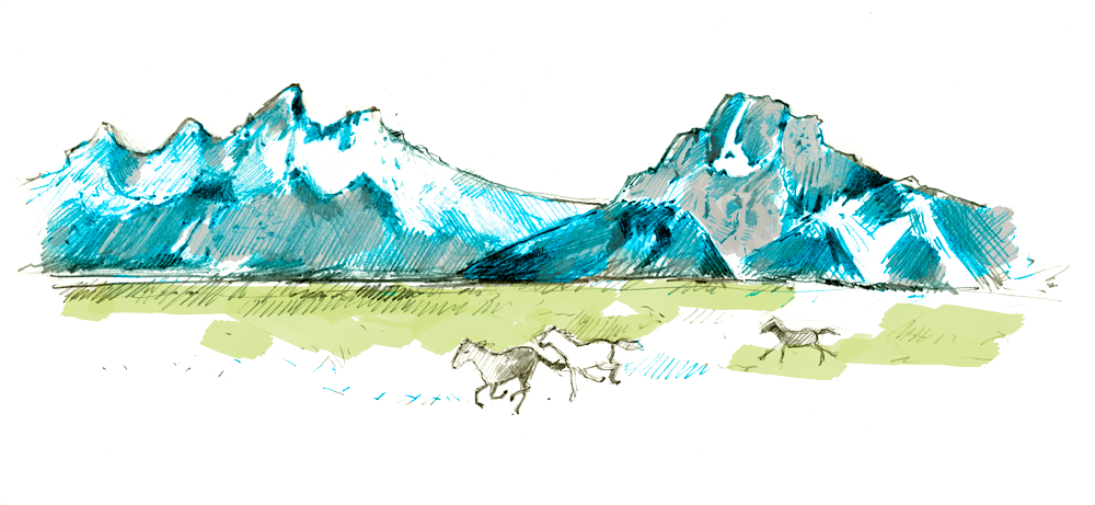 Hills clipart glacier. Illustrated weddings by lola