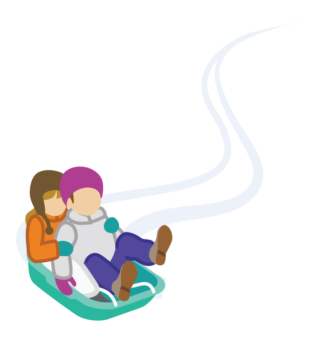 sledding tips for. Hills clipart hill top