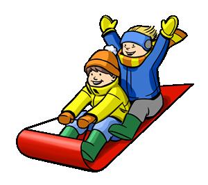 Christmas for kids clip. Sleigh clipart sled