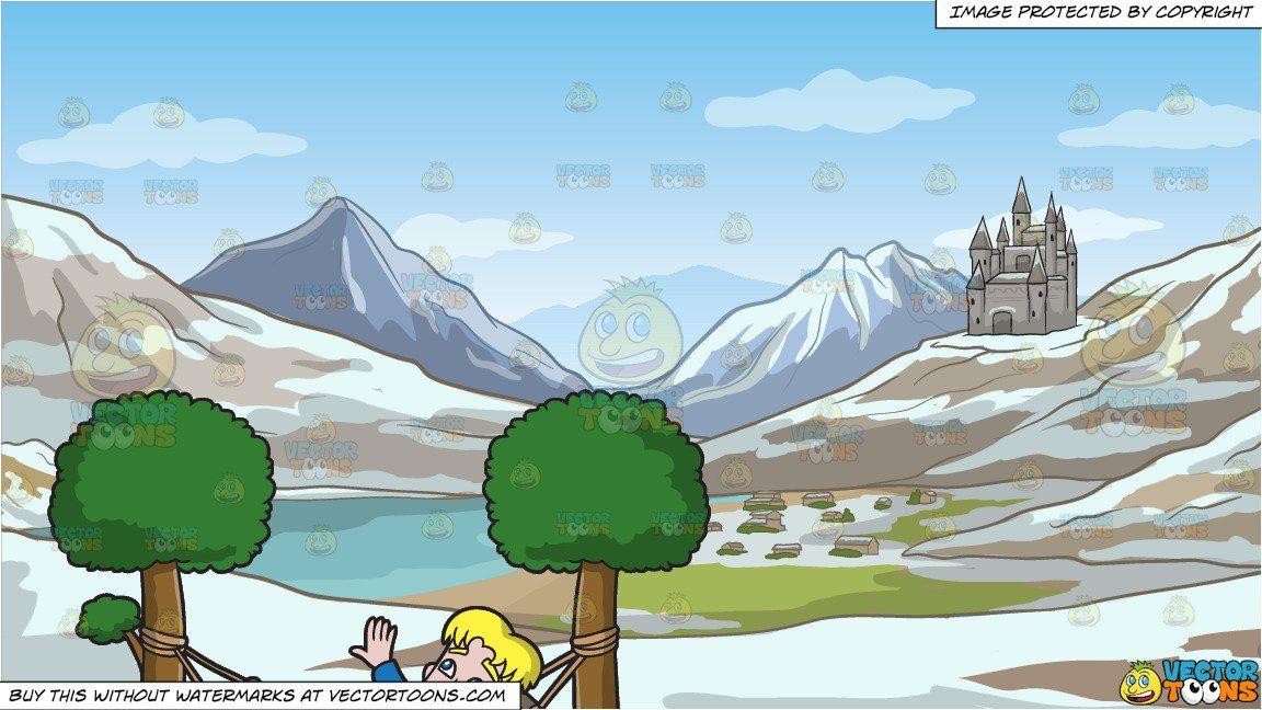 Cartoon a man daydreaming. Hills clipart mountain side
